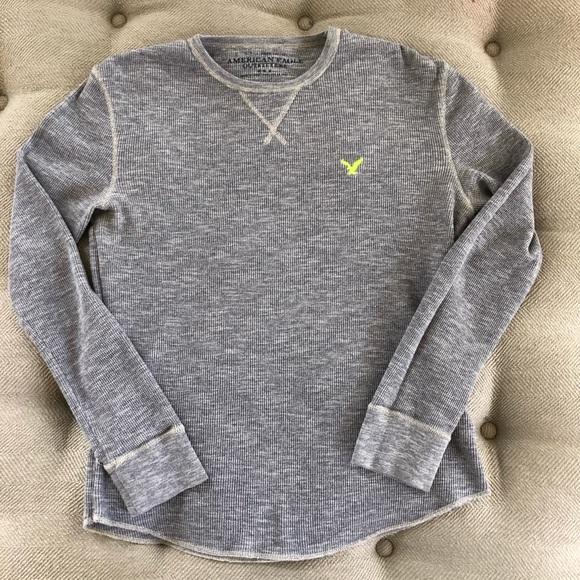 American Eagle Grey Thermal Logo Short M